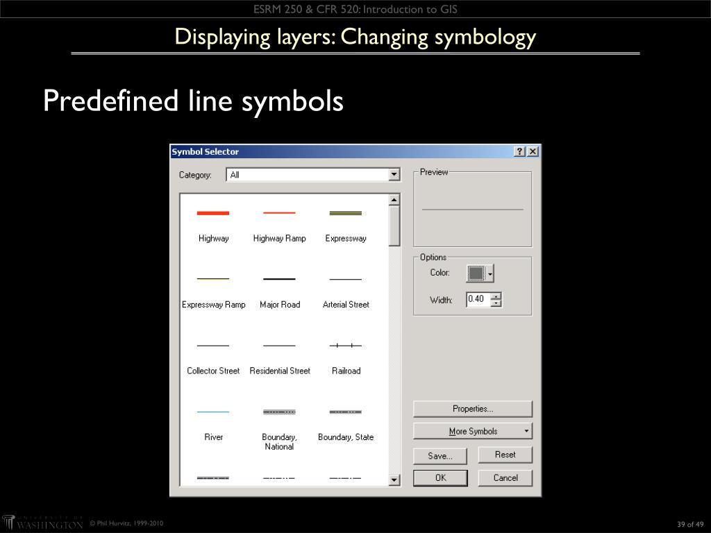 Displaying layers: Changing symbology