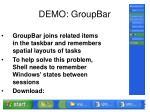 demo groupbar