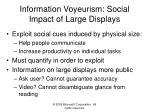information voyeurism social impact of large displays