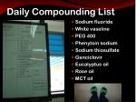 daily compounding list