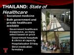 thailand state of healthcare