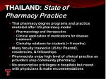 thailand state of pharmacy practice