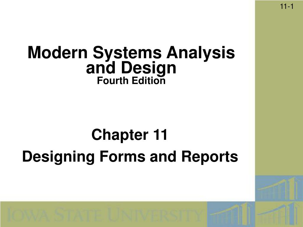 Ppt Chapter 11 Designing Forms And Reports Powerpoint Presentation Free Download Id 268240