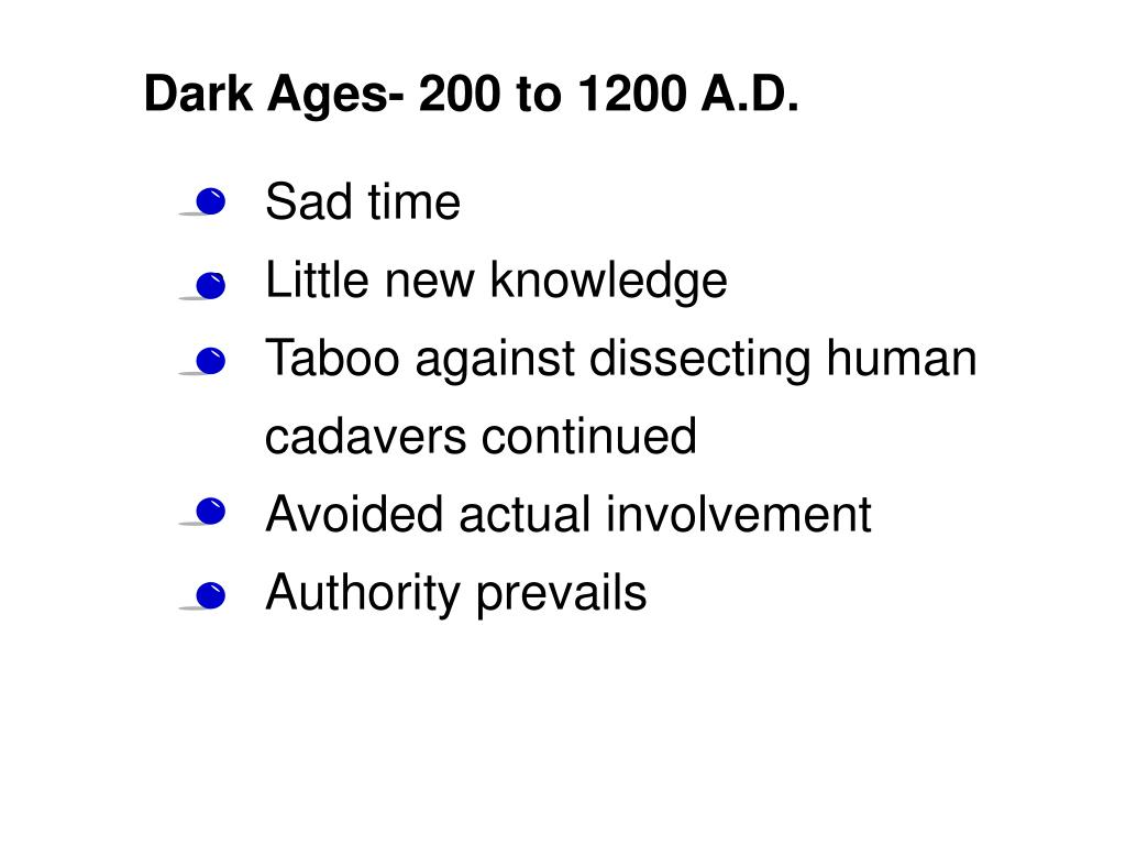 Dark Ages- 200 to 1200 A.D.