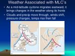 weather associated with mlc s