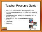 teacher resource guide