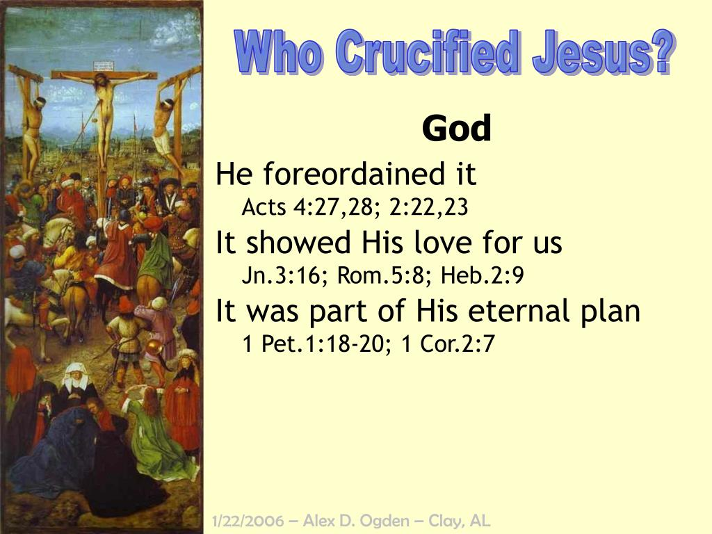 Who Crucified Jesus?