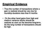 empirical evidence17