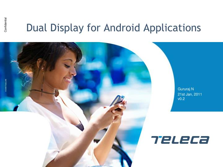 Dual display for android applications