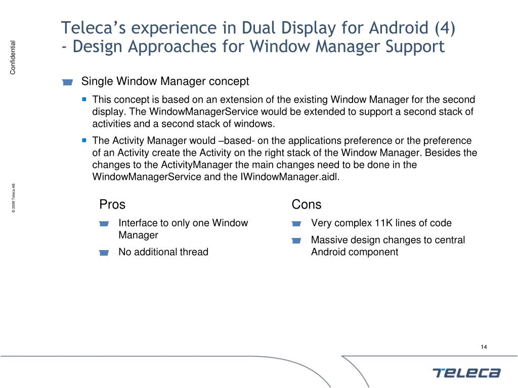 Teleca's experience in Dual Display for Android (4)