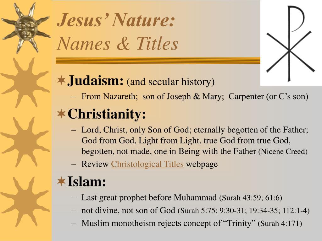 Jesus' Nature: