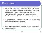 form class