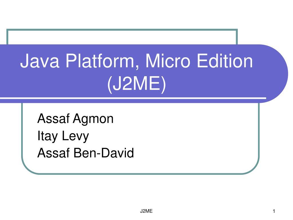 java platform micro edition j2me l.