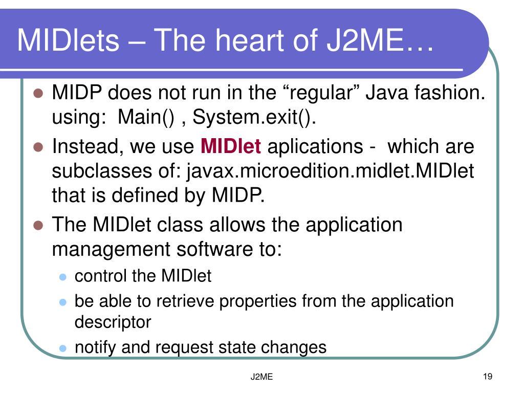 PPT - Java Platform, Micro Edition (J2ME) PowerPoint
