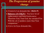 the progression of genuine change68