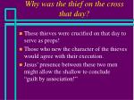 why was the thief on the cross that day29