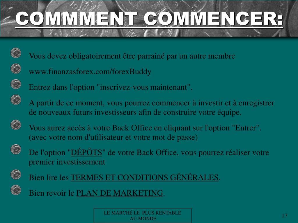 COMMMENT COMMENCER: