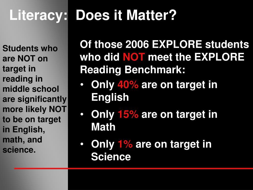 Literacy:  Does it Matter?
