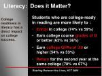 literacy does it matter14