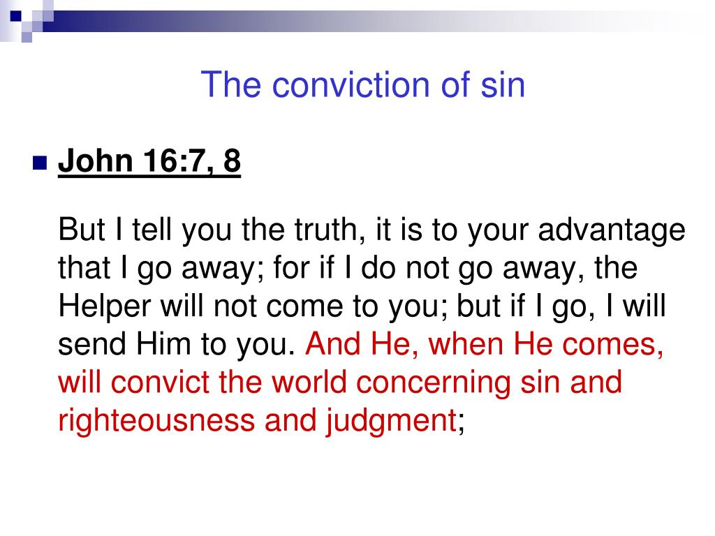 The conviction of sin