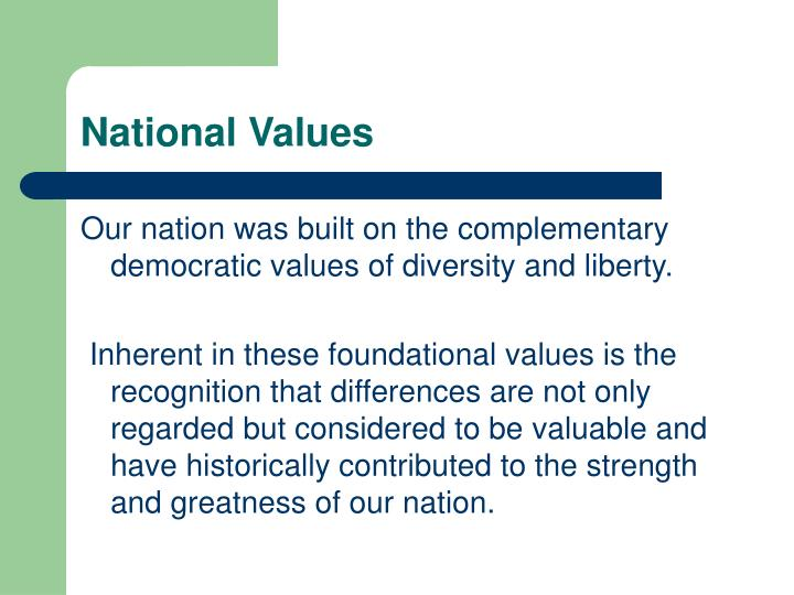National values