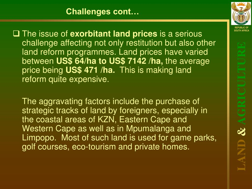 PPT - IMPACT ASSESSMENT OF LAND REFORM IN South Africa