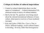 critique decline of cultural imperialism