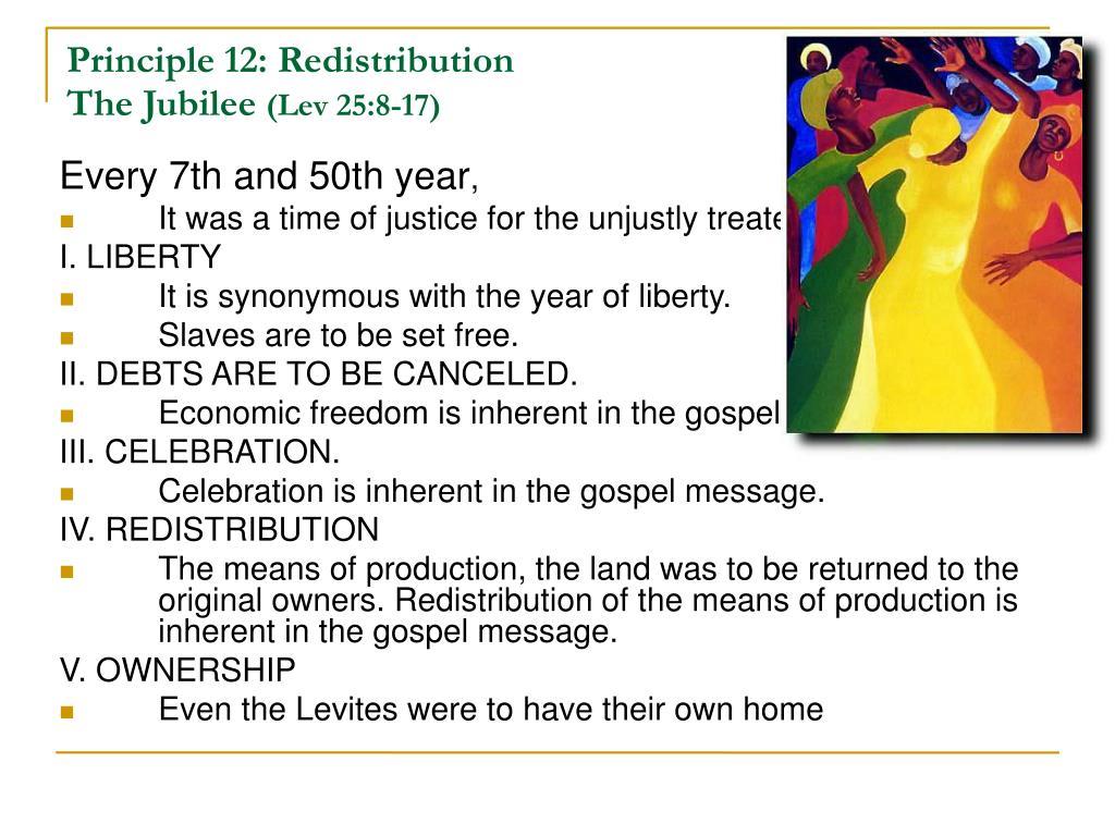 Principle 12: Redistribution
