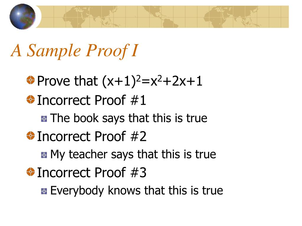 A Sample Proof I