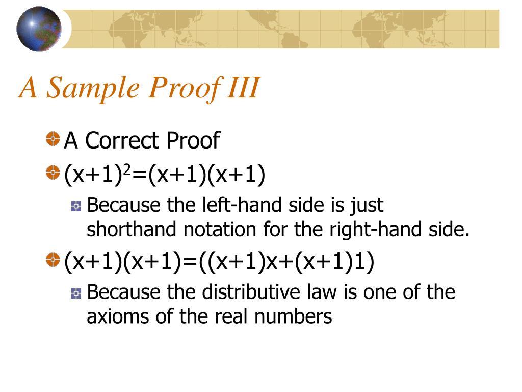 A Sample Proof III