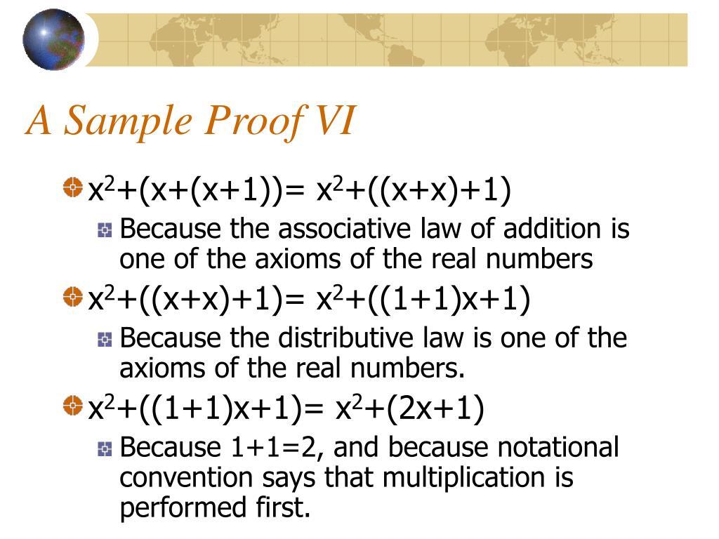A Sample Proof VI