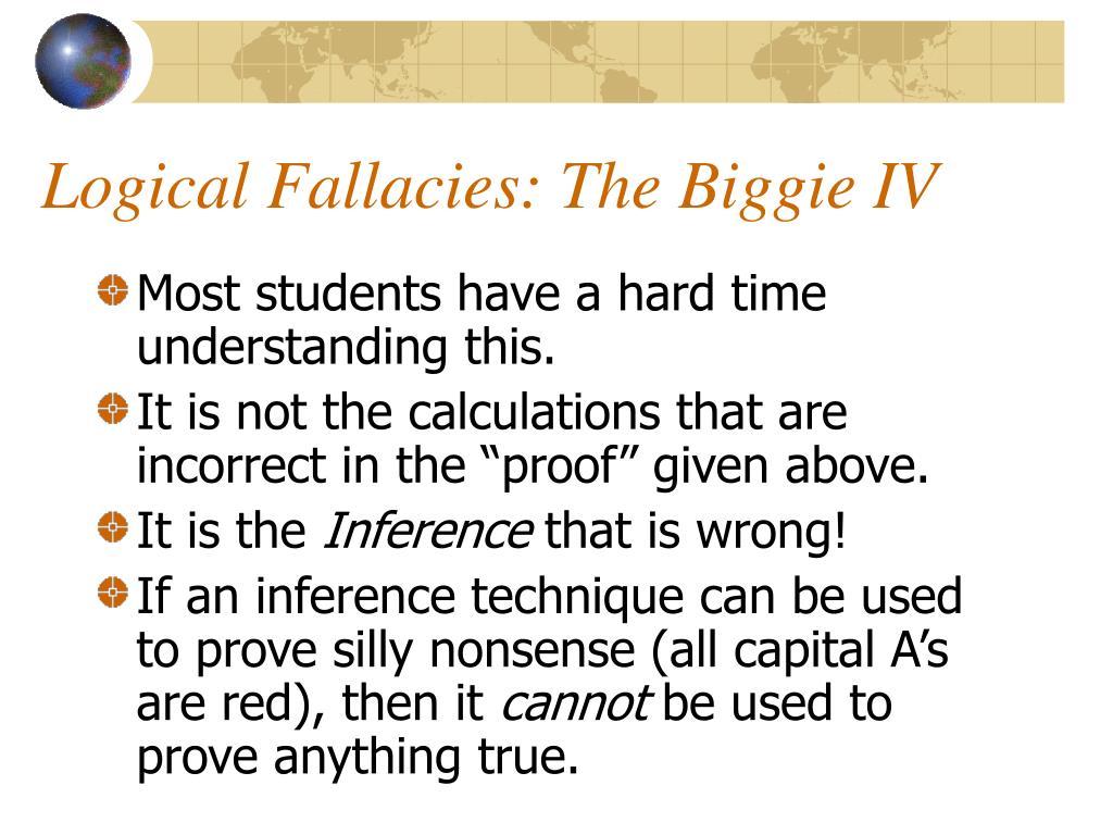Logical Fallacies: The Biggie IV