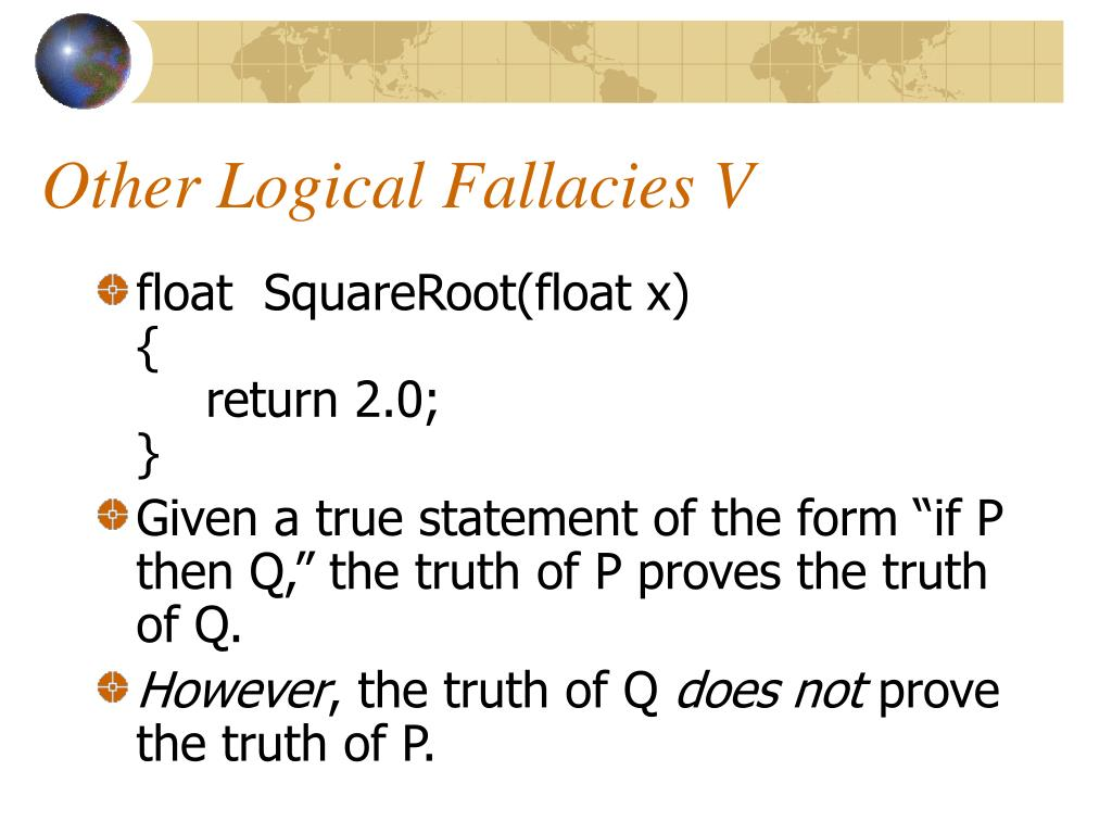 Other Logical Fallacies V