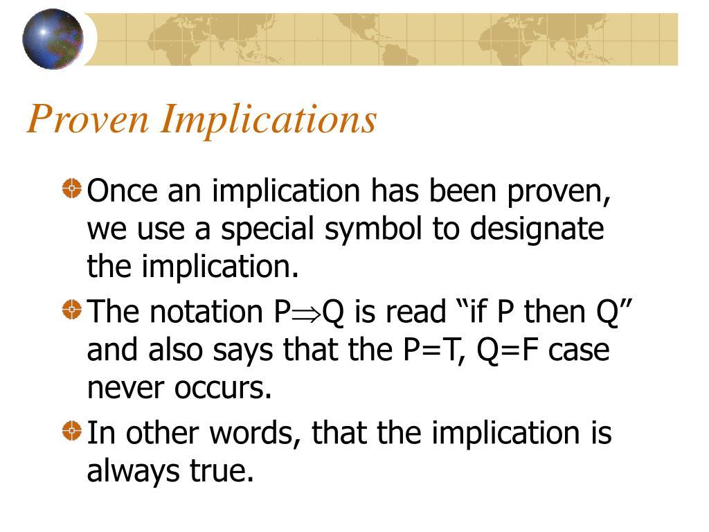 Proven Implications