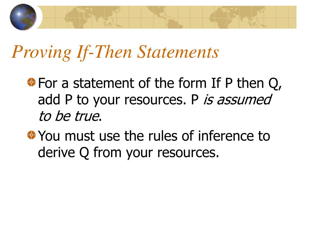 Proving If-Then Statements