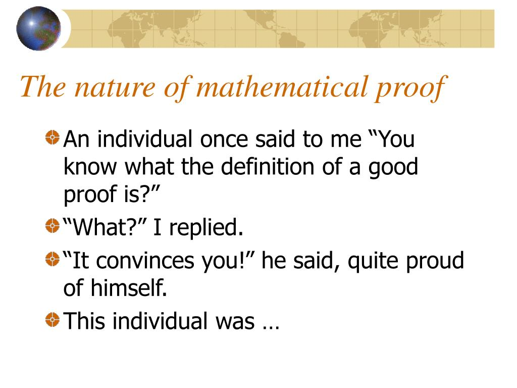 The nature of mathematical proof