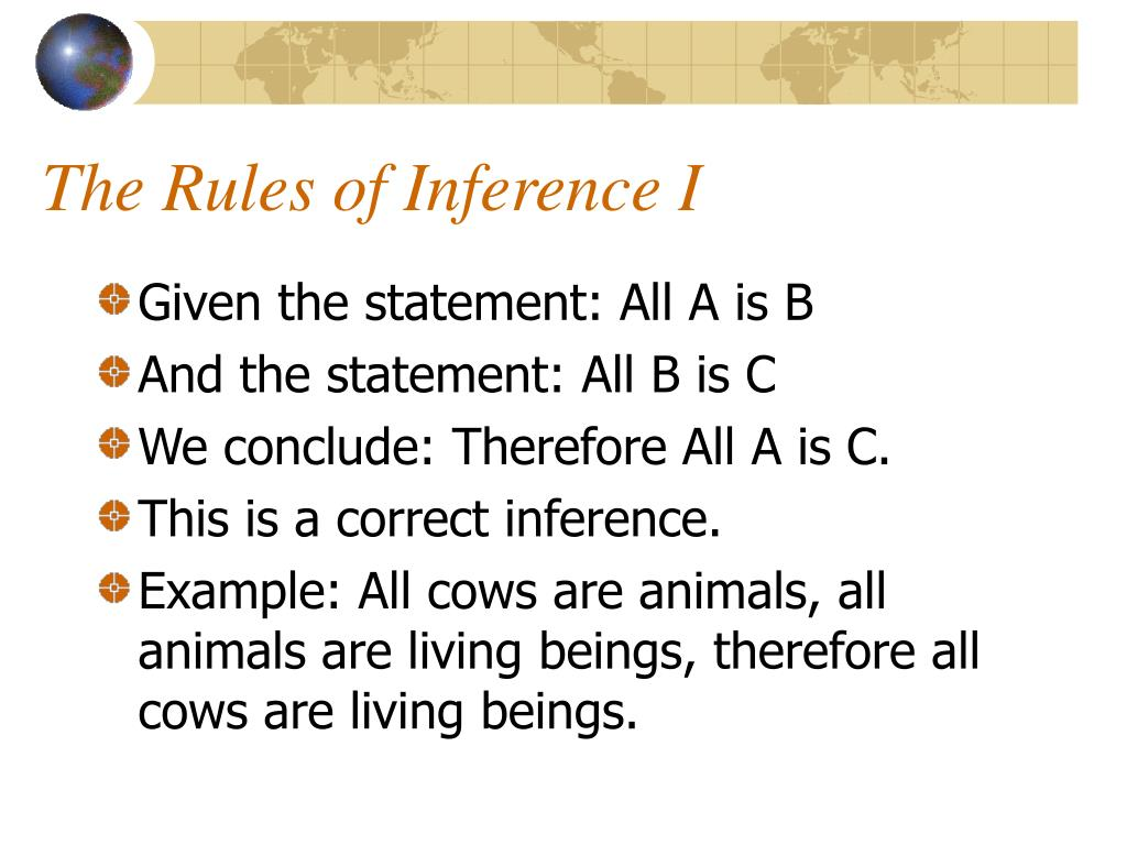 The Rules of Inference I