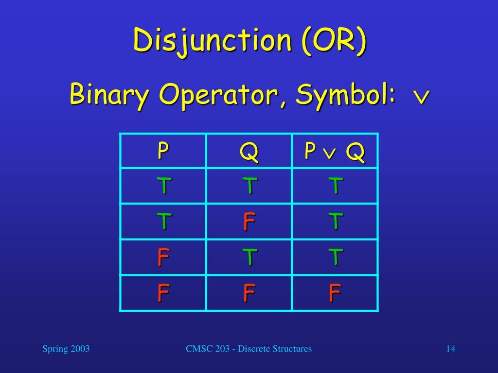 Disjunction (OR)