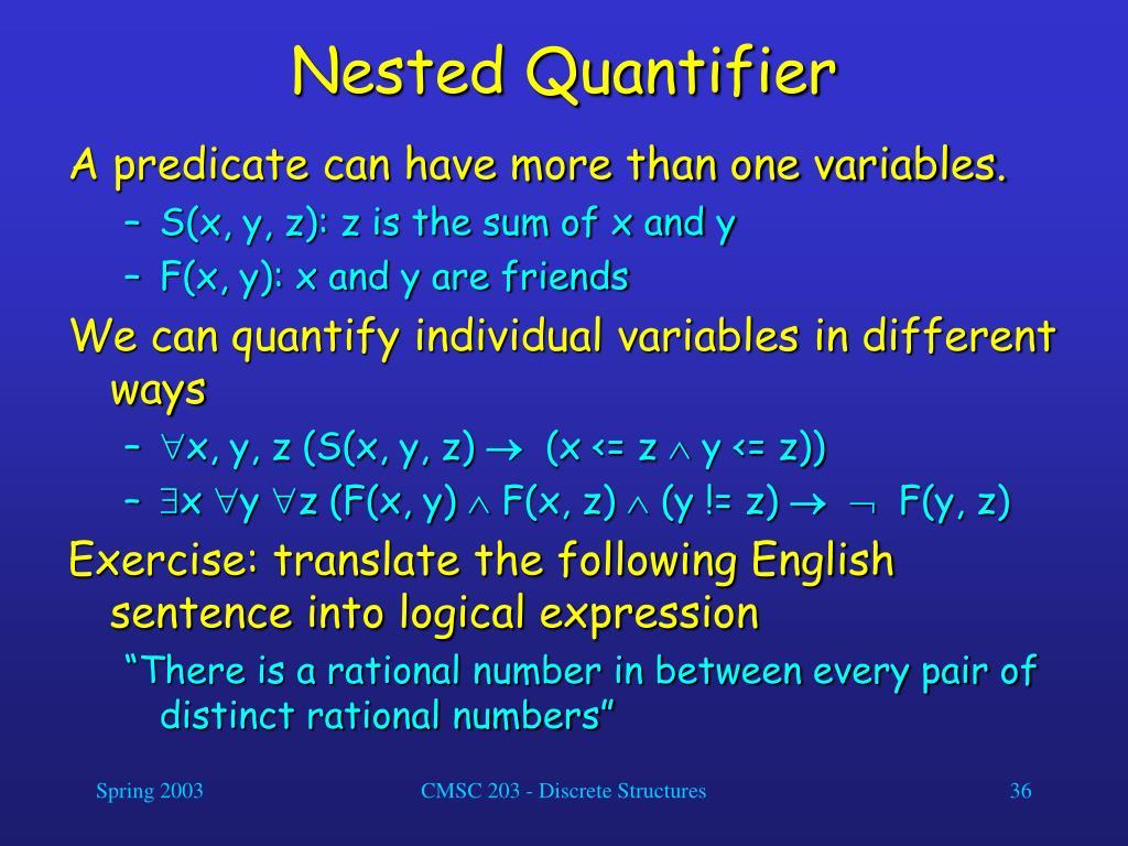 Nested Quantifier
