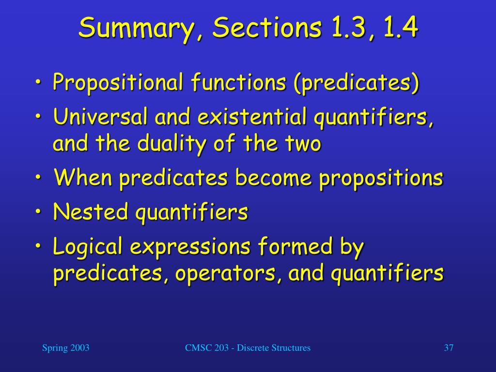 Summary, Sections 1.3, 1.4