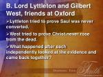 b lord lyttleton and gilbert west friends at oxford