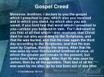 gospel creed