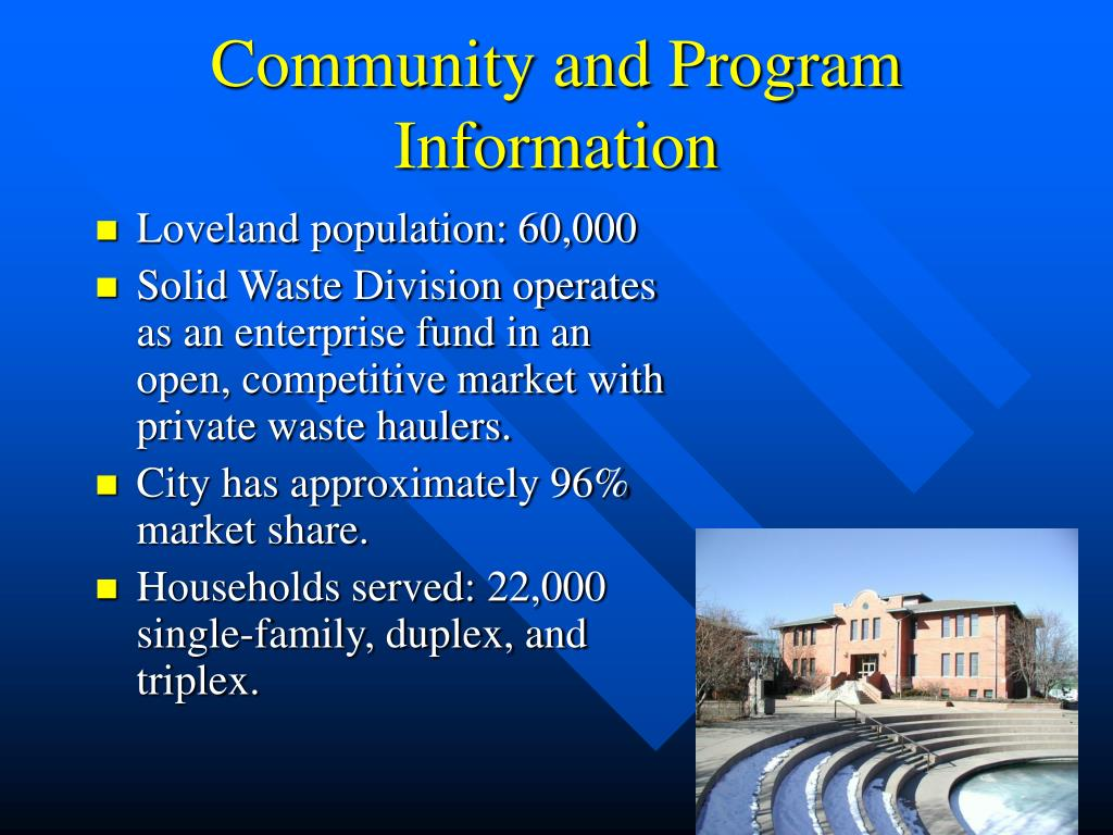 Community and Program Information