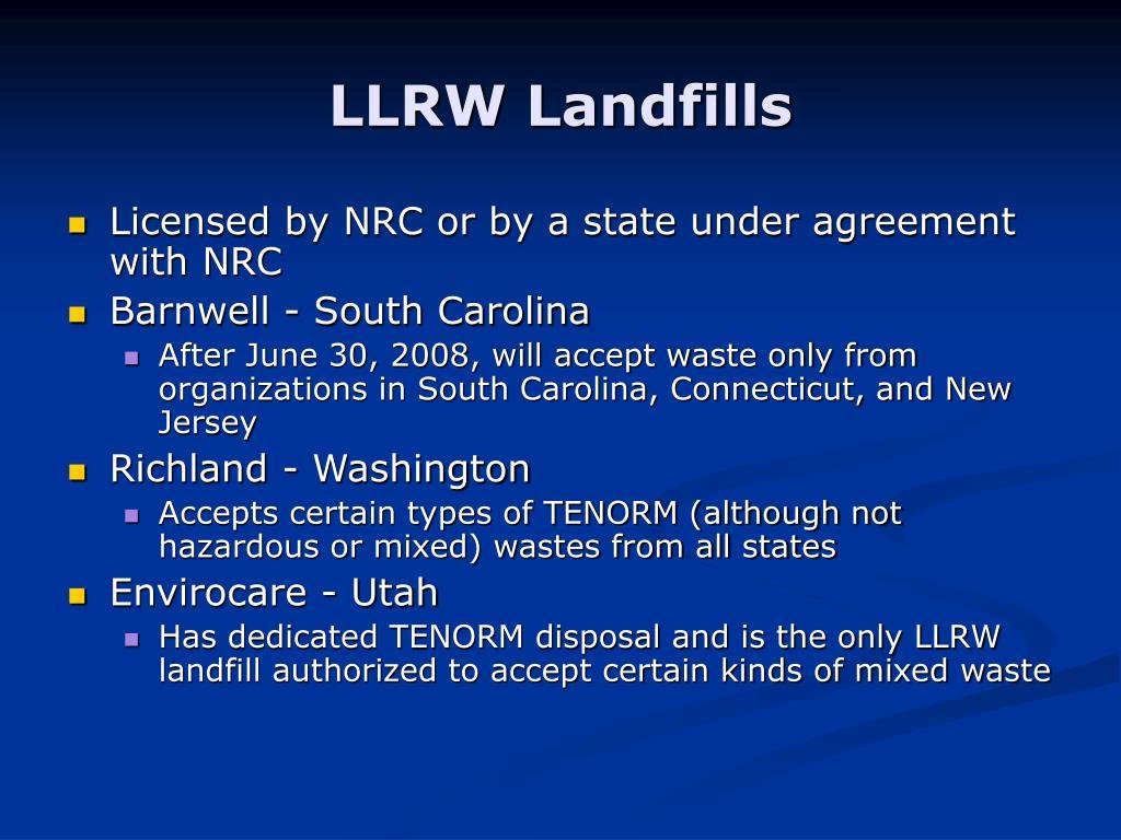 LLRW Landfills