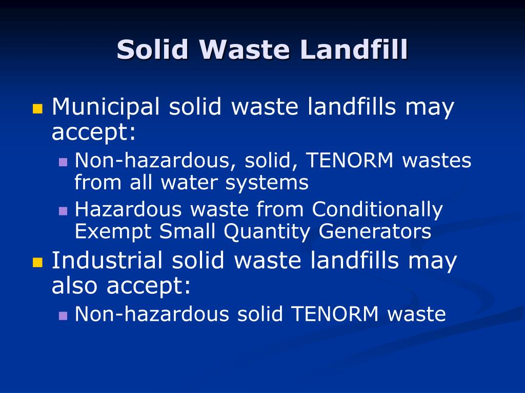 Solid Waste Landfill