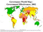 governance world map government effectiveness 2002