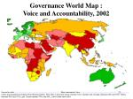 governance world map voice and accountability 2002