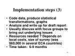 implementation steps 3