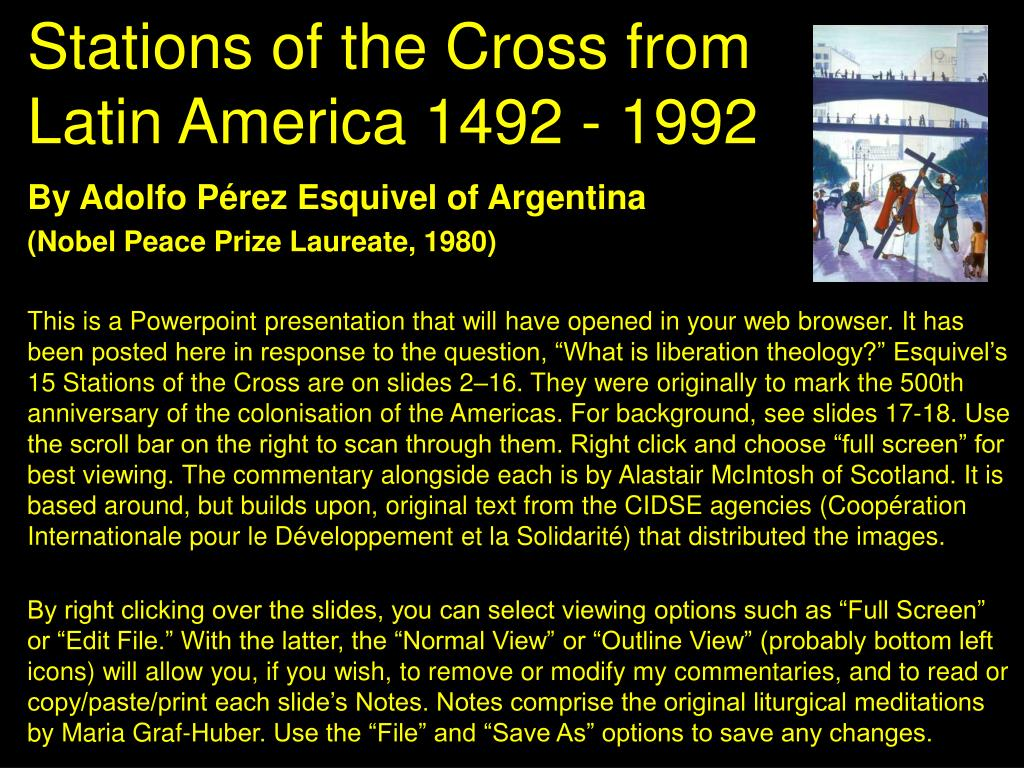stations of the cross from latin america 1492 1992 l.