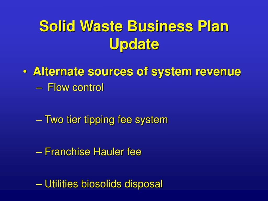 Solid Waste Business Plan Update